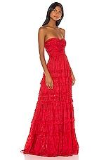 Alexis Allora Gown in Red Azalea