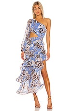 Alexis Sabetta Gown in Blue Floral