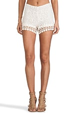 Pia Crochet Short in Natural Crochet