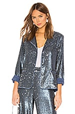 Alexis Ripley Jacket in Marine Blue Sequins