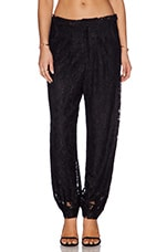 Jared Lace Track Pant in Black