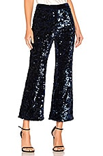 Alexis Pace Crop Pant in Navy Sequins