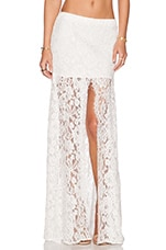 x REVOLVE Micah Lace Skirt in White