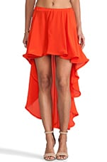 Isabell Hi-Lo Skirt in Red Orange