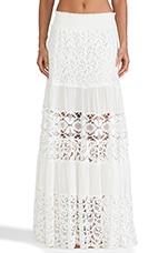 Liu Maxi Skirt in White Crochet