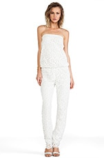 Alexis Lazar Jumpsuit in White Crochet