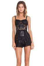 Athina Lace Romper in Jet Black Lace