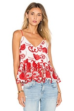 Issy Top in Ruby Embroidery