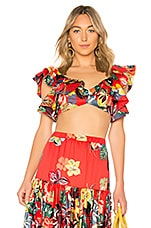 Alexis Caimile Crop Top in Calipso Red
