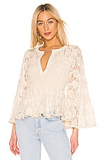 Alexis Tanisa Top in Beaded Ivory Lace