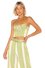 Alexis Summer Bustier Top in Tuscan Stripe