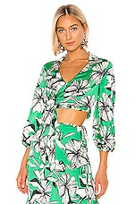 Alexis Rolla Top in Emerald Floral
