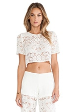 Alexis X REVOLVE Lisette Crop Top in White Lace
