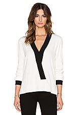 Adelaide Trim Blouse in White
