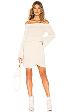 AYNI Misha Off The Shoulder Sweater Dress in Ivory