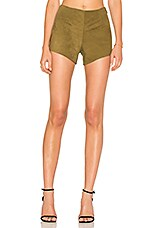 Quarzo Suede Short in Olive Green