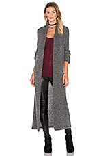 AYNI Aruni Long Cardigan in Stone Grey