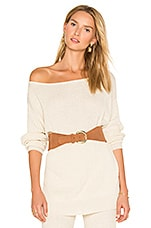 Java Off the Shoulder Sweater in Eggshell