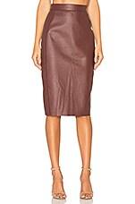 AYNI Wika Pencil Skirt in Burgundy