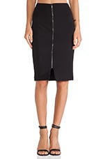 Cremallera Skirt in Black