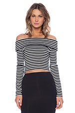 Karolina Top in Black Stripe
