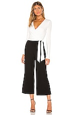 Bailey 44 Bethany Jumpsuit in Eggshell & Black
