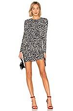Bailey 44 Boogie Wonderland Leopard Dress in Black & Chalk