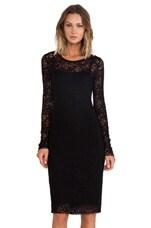 Snow Crystal Dress in Black