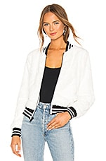 Bailey 44 Back Country Faux Fur Bomber Jacket in Chalk