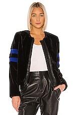 Bailey 44 Sullivan Faux Fur Jacket in Black & Blue