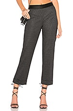 Bailey 44 Rasputin Cropped Striped Pant in Black & Anthracite