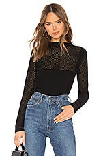 Bailey 44 Mesh Together Top in Black