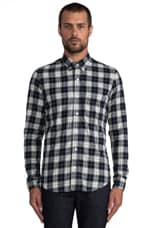 The William Button Down in White/Navy Plaid