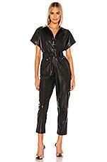 Bardot PU Belted Jumpsuit in Black