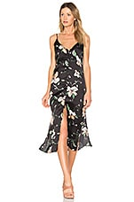 Bardot Hibiscus Slip Dress in Black