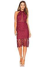 Bardot Gemma Dress in Burgundy