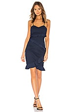 Bardot Fae Lace Dress in Deep Navy