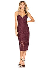 Bardot Gia Lace Dress in Wine