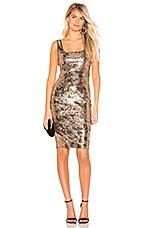 Bardot Neve Dress in Gold Foil Sequin