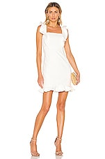 Bardot Ashley Frill Dress in Ivory