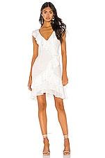 Bardot Ruffle Dress in Ivory