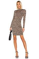 Bardot Leopard High Neck Dress in Leopard