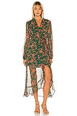 Bardot Justine Floral Dress in Green Floral