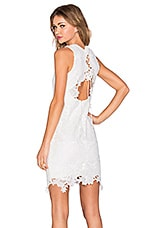 Bardot Rosette Lace Dress in Ivory