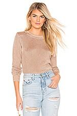 Bardot Metallic Sweater in Rose Gold