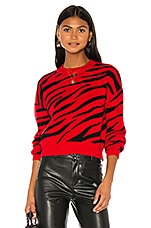 Bardot Red Zebra Knit in Red Zebra