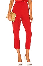 Bardot Zalia Slim Pant in Fire Red