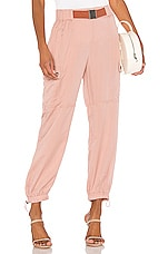 Bardot Buckle Cargo Pant in Vintage Rose