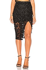 Bardot Fiona Lace Skirt in Black