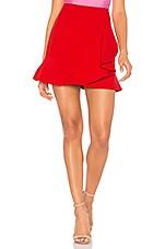 Bardot Sienna Mini Skirt in Lava